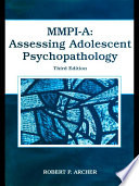MMPI A  Assessing Adolescent Psychopathology