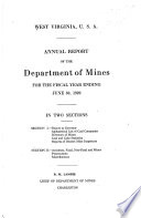 Annual Report of the Department of Mines for the Year Ending