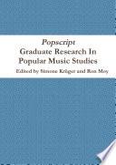 Popscript  Graduate Research In Popular Music Studies