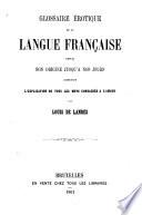Glossaire érotique de la langue française