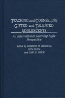 Teaching and Counseling Gifted and Talented Adolescents