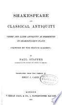 Shakespeare and Classical Antiquity Book PDF