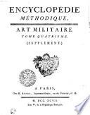 Encyclop  die m  thodique  Art militaire