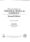 Encyclopedia of Violence  Peace   Conflict