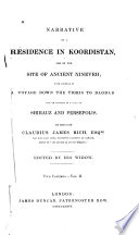 Narrative Of A Residence In Koordistan And On The Site Of Ancient Nineveh