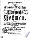 Johan Friedrich Seyfart Entwurf einer allerneuesten Beschreibung des Königreichs Böhmen