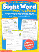 100 Write and Learn Sight Word Practice Pages  Grades K 2