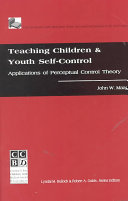 Teaching Children and Youth Self control