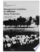 Management Guidelines for Efficient Sheep Production