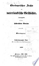 Oberbayerisches Archiv für vaterländische Geschichte