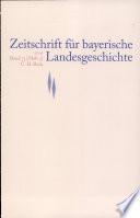 Zeitschrift fur bayerische Landesgeschichte. Band 73, Heft 3/2010