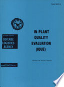 In Plant Quality Evaluation  IQUE