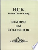 H  C  Koenig  Reader and Collector