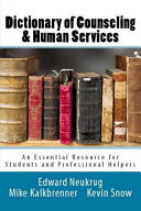 Dictionary of Counseling and Human Services