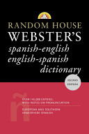 Random House Webster s Spanish English  English Spanish Dictionary
