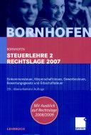 Steuerlehre 2 Rechtslage 2007