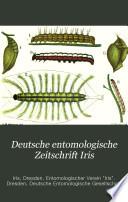 Deutsche entomologische Zeitschrift Iris