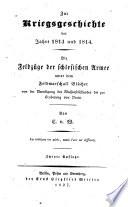 Zur Kriegsgeschichte der Jahre 1813 und 1814