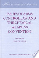 Issues of Arms Control Law and the Chemical Weapons Convention