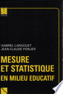 Mesure et statistique en milieu   ducatif