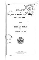 Bulletin of the Judge Advocate General of the Army