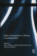Public participation in African constitutionalism document cover