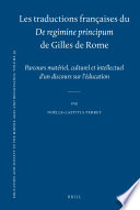 illustration du livre Les traductions françaises du De regimine principum de Gilles de Rome