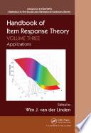 Handbook of Item Response Theory  Volume Three