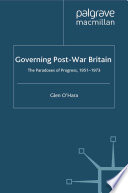 Governing Post War Britain