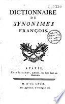 Dictionnaire de synonymes fran  ais