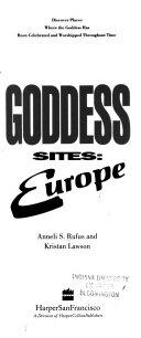Goddess Sites  Europe