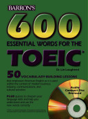 600 Essential Words for the TOEIC Test