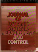 Journal of Dynamic Systems  Measurement  and Control