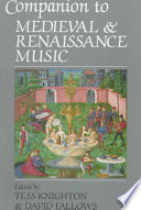 Companion To Medieval And Renaissance Music book