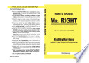 How To Choose Mr  RIGHT   Healthy Marriage