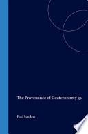 Provenance of Deuteronomy Thirty two