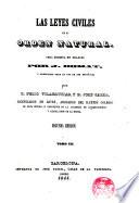 La Leyes Civiles en su Orden Natural