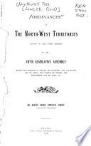 Ordinances of the Northwest Territories