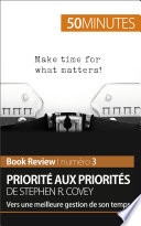 Priorit   aux priorit  s de Stephen R  Covey  analyse de livre
