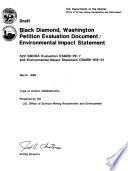 Black Diamond  Washington petition evaluation document  environmental impact statement