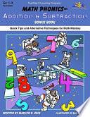 Math Phonics Addition Subtraction