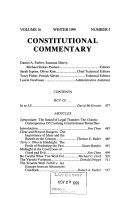 Constitutional commentary