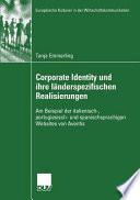 Corporate Identity und ihre länderspezifischen Realisierungen