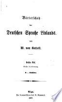 Wörterschatz der deutschen Sprache Livlands