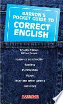 Barron s Pocket Guide to Correct English
