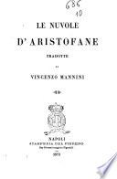 Le nuvole d Aristofane tradotte da Vincenzo Mannini