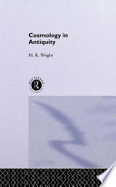 Cosmology in Antiquity