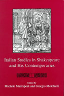 Italian Studies in Shakespeare and His Contemporaries