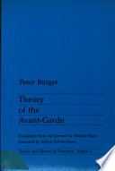 Theory of the Avant garde