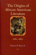 The Origins of African American Literature, 1680-1865